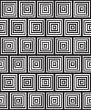 黑白抽象几何样式 光学的幻觉 免版税库存照片