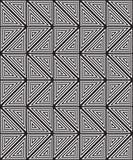 黑白抽象几何样式 光学的幻觉 免版税库存图片