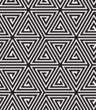 黑白抽象几何样式 库存例证