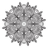 黑白抽象圆样式 免版税图库摄影