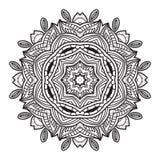 黑白抽象圆样式 免版税库存照片