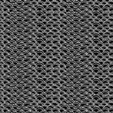 黑白抽象手拉的波浪无缝的样式 免版税库存照片