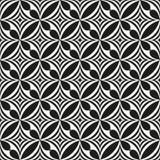 黑白抽象无缝的模式 免版税库存图片