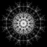 黑白抽象背景和线 免版税库存照片