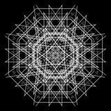 黑白抽象背景和线 库存图片