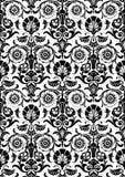 黑白抽象花卉样式背景 免版税库存照片