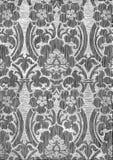 黑白抽象镶边花卉样式葡萄酒背景 库存图片