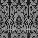 黑白抽象镶边花卉样式葡萄酒背景 免版税库存照片