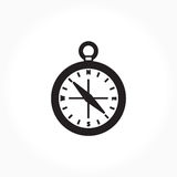黑白指南针标志 库存图片