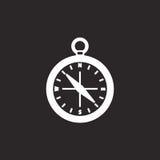黑白指南针标志 图库摄影