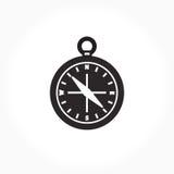 黑白指南针标志 免版税图库摄影