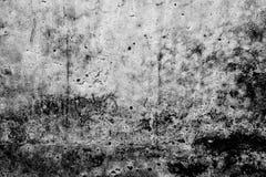 黑白摘要损坏了老难看的东西水泥背景,纹理 图库摄影