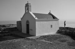 白教堂和女孩 免版税库存图片