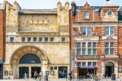 白教堂画廊和Aldgate东部驻地门面在东部L 免版税库存照片