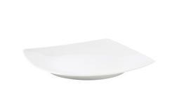 白方块菜盘 免版税库存图片