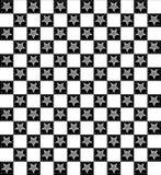 黑白方格的特征模式 库存照片