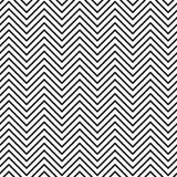 黑白无缝的之字形线样式 免版税库存图片