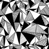 与三角的无缝的纹理,不尽的样式。 免版税库存图片