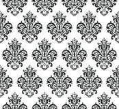 黑白无缝的重复的传染媒介样式 在巴洛克式的样式背景纹理的典雅的设计 向量例证