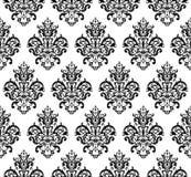 黑白无缝的重复的传染媒介样式 免版税图库摄影
