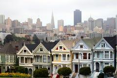 白杨广场,旧金山,加利福尼亚,美国 免版税库存照片