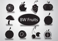 黑白果子商标 免版税库存照片