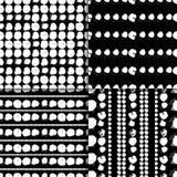 黑白样式设置与圈子 向量例证