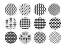 黑白样式集合 库存图片