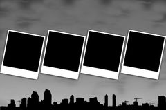 黑白框架的人造偏光板 图库摄影