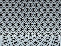 黑白梯形样式纹理, 3D回报 库存图片