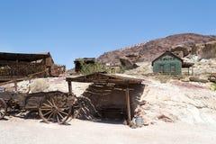 白棉布加利福尼亚鬼城 库存图片