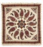 白棉布工艺品打印了qalamkar传统 免版税库存图片