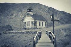 白棉布,加州-守旧派房子 免版税库存图片