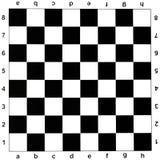 黑白棋盘 免版税库存照片
