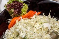 白椰菜沙拉 库存照片