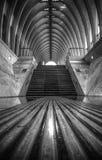 黑白楼梯 库存图片