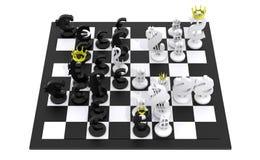 黑白欧洲美元的下棋比赛 免版税库存照片