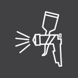 黑白气刷标志 免版税库存图片