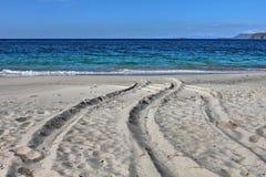 白沙子Playa Conchal,哥斯达黎加 图库摄影