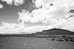 黑白沙漠 库存照片