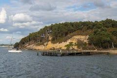 白浪岛在普尔港 免版税图库摄影