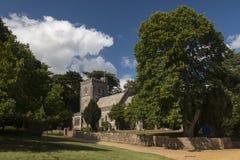 白浪岛的圣玛丽的教会 免版税库存照片