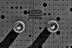 黑白消防栓 免版税图库摄影