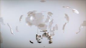 从白炽的创新到荧光灯电灯泡 库存例证