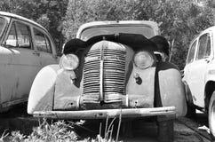 黑白照片汽车 免版税库存照片