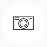 黑白照相机标志 免版税图库摄影