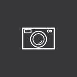黑白照相机标志 免版税库存图片