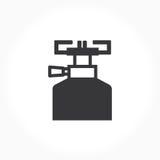 黑白燃烧器标志 库存照片