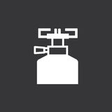 黑白燃烧器标志 库存图片