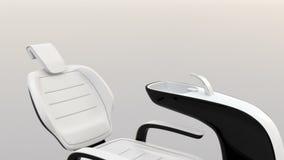 黑白牙齿椅子的动画在完全背景的 皇族释放例证